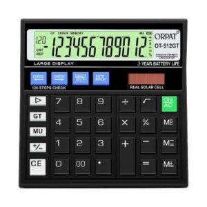 Orpat Calculator | 512 GT Black Calculator |