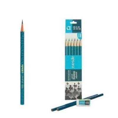 Apsara Drawing Pencils (HB, B, 2B, 2B, 4B, 6B)Pack-2