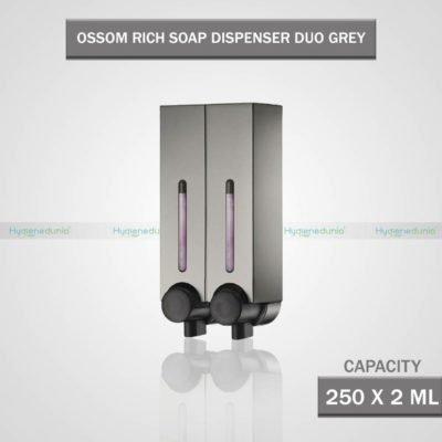 RICH Soap Dispenser 250 Duo Grey Twin Dispenser OSSOM®