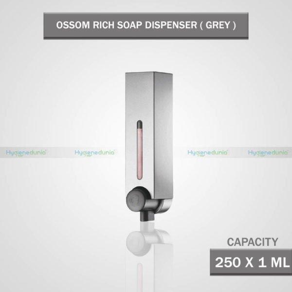RICH Soap Dispenser 250 Grey Compact and Slim Design OSSOM®