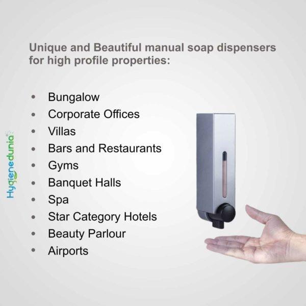RICH Soap Dispenser 250 Grey Luxury Quality Ossom