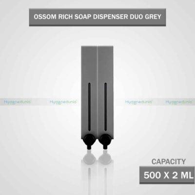 RICH Soap Dispenser 500 Duo Grey Twin Dispensers, Slim Design