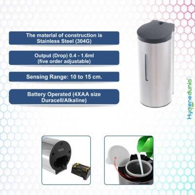 Foam Soap Dispensers for Kitchen SS Automatic Premium Quality